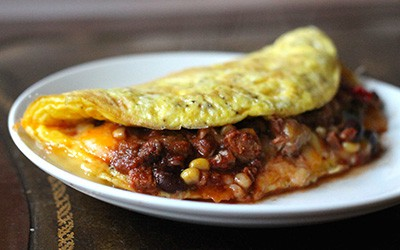 Chili and Cheese Omelet