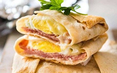 Egg and Cheddar Wrap