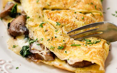 Mushroom and Swiss Cheese Omelet