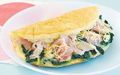 Spinach and Swiss Cheese Omelet