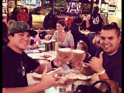 guys drinking schooners